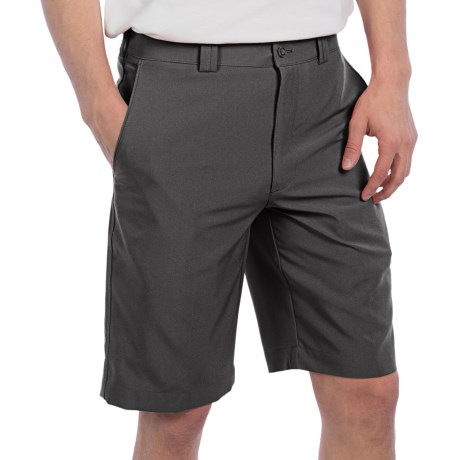 PGA Tour Flat Front Shorts - UPF 50+ (For Men) in American Beauty