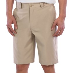 PGA Tour Flat Front Shorts - UPF 50+ (For Men) in Caviar