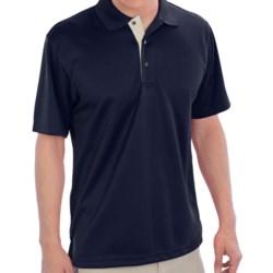 PGA Tour Polo Shirt - Short Sleeve (For Men) in Caviar