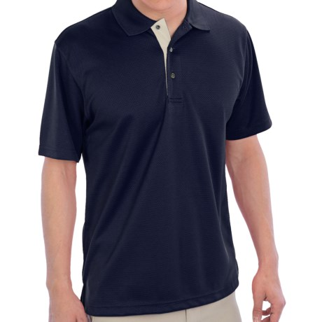PGA Tour Polo Shirt - Short Sleeve (For Men) in Caviar