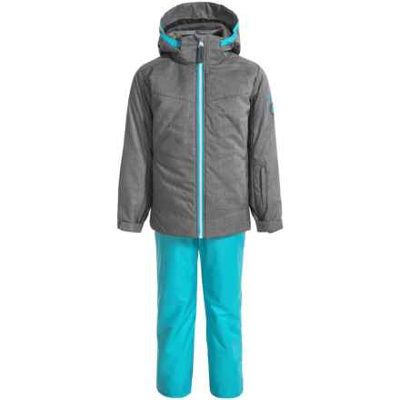 Phenix Bergen Ski Jacket and Pants Set - Waterproof, Insulated (For Little and Big Girls) in Grey/Tuquoise - Closeouts