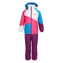 Phenix Brick Jacket and Bib Snow Pants Set - Waterproof, Insulated, 2-Piece (For Girls) in Pink - Closeouts