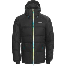 Phenix Glacier Big Down Jacket - Waterproof, 600 Fill Power (For Men) in Black/Multi - Closeouts