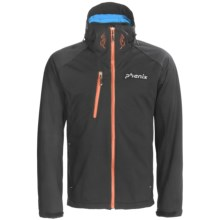 Phenix Hardanger Jacket - Soft Shell (For Men) in Black/Double Orange - Closeouts