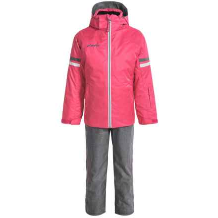 Phenix Horizon Ski Jacket and Pants Set - Waterproof, Insulated (For Little and Big Girls) in Pink/Grey - Closeouts
