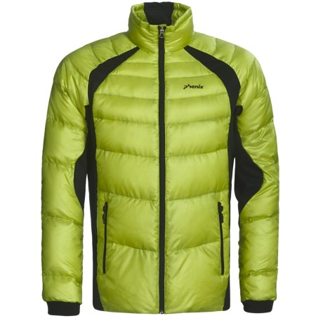 Phenix Hybrid Fluffy Down Jacket - 800 Fill Power (For Men) in Yellow Green