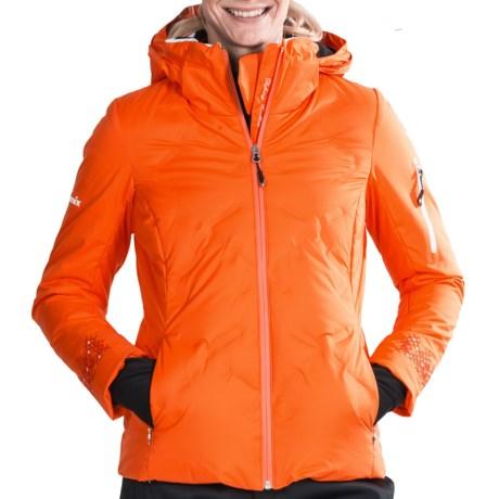Phenix Rose Down Ski Jacket - 600 Fill Power (For Women) in Orange
