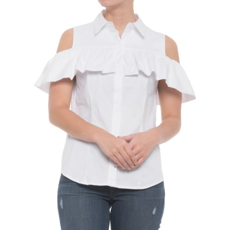 Philosophy Cold-Shoulder Shirt - Short Sleeve (For Women) in White
