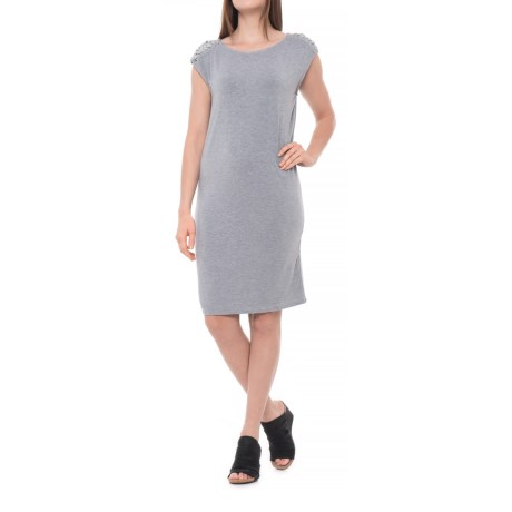 Philosophy Dress Extended Shoulder Dress - Sleeveless (For Women) in Mist Grey Heather