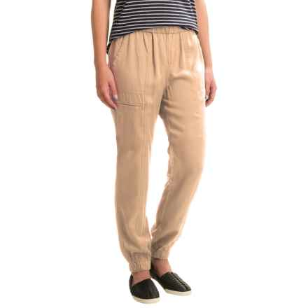 Philosophy Elastic Waist Cuffed Pants (For Women) in Rough Linen - Closeouts