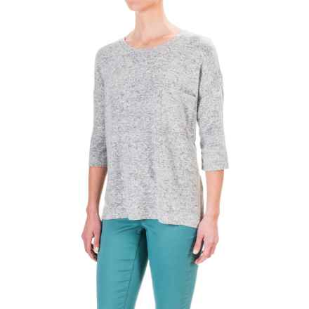 Philosophy Fleece Sweatshirt - 3/4 Sleeve (For Women) in Light Grey - Closeouts