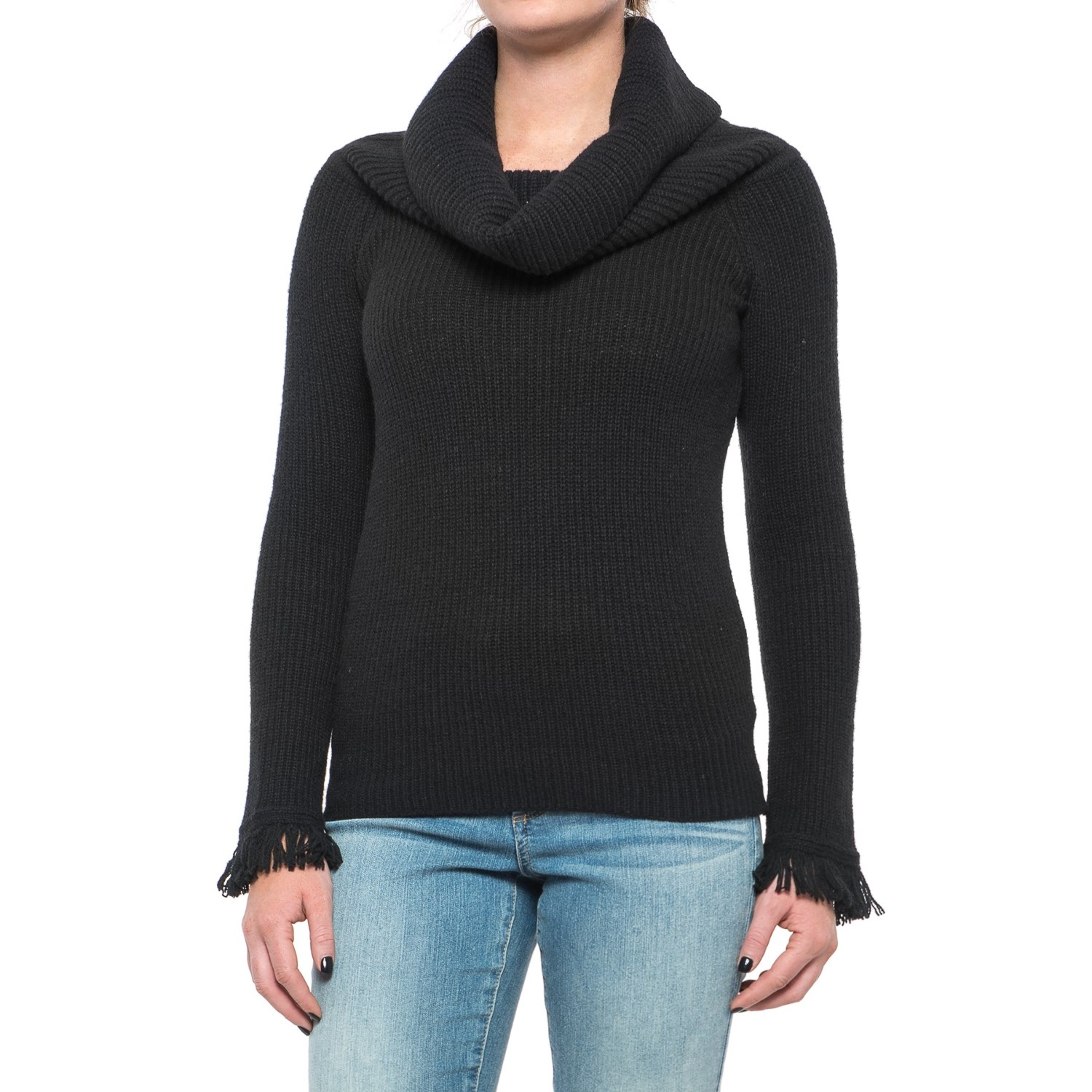 Philosophy Fringe Cuff Ribbed Sweater (For Women) - Save 50%