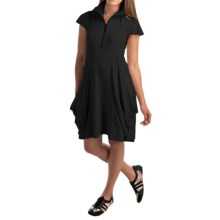 Philosophy Funnel Neck Dress - Short Sleeve (For Women) in Black - Closeouts