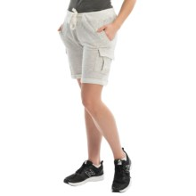 Philosophy Heathered Knit Cargo Shorts (For Women) in Heather Grey - Closeouts