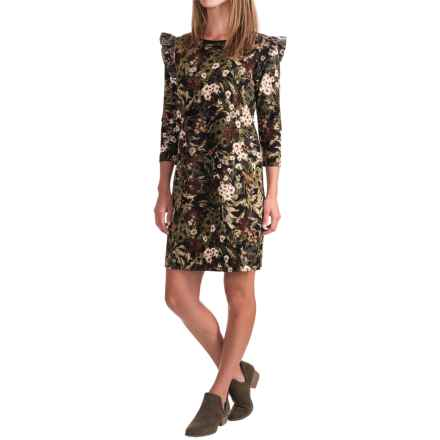 Philosophy Printed Dress - 3/4 Sleeve (For Women) in Forest Print - Closeouts