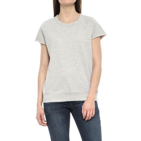 Philosophy Republic Clothing Extended Shoulder Sweatshirt - Short Sleeve (For Women) in Heathery Grey