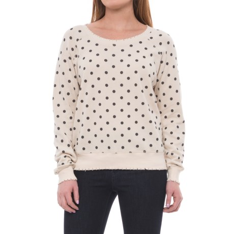 Philosophy Republic Clothing Polka-Dot French Terry Shirt - Long Sleeve (For Women) in Beige Ground/Black