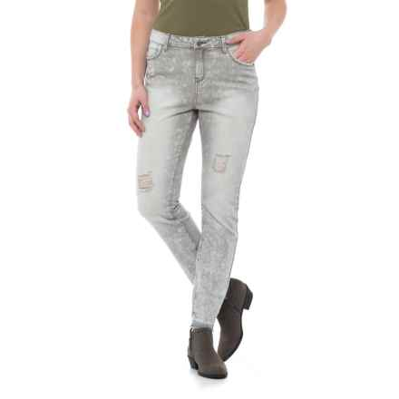 Philosophy Republic Clothing Regular Skinny Jeans (For Women) in Grey Wash - Closeouts