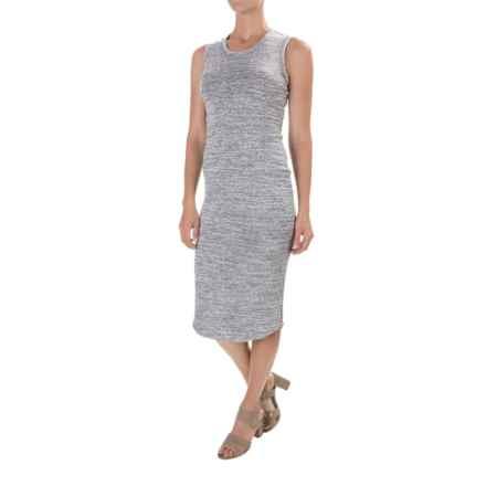 Philosophy Scoop Neck Dress - Sleeveless (For Women) in Light Grey Spacedye - Closeouts