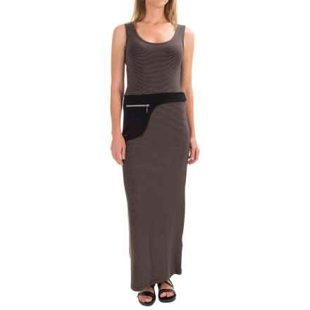 Philosophy Scoop Neck Tank Maxi Dress - Sleeveless (For Women) in Black/Brown - Closeouts