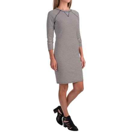 Philosophy Striped Dress - 3/4 Sleeve (For Women) in Black/White Stripe - Closeouts
