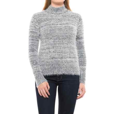 Philosophy Two-Tone Fuzzy Sweater (For Women) in Black/White - Closeouts