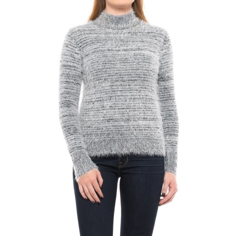 Philosophy Two-Tone Fuzzy Sweater (For Women) in Black/White