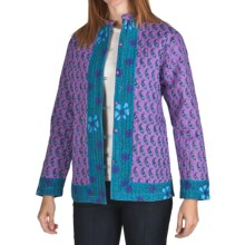Phool Quilted Cotton Jacket - Reversible (For Women) in Purple - Closeouts