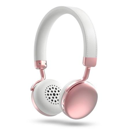 Photive HF1 On-Ear Wireless Bluetooth® Headphones in Rose Gold