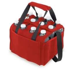 Picnic Time 12-Pack Neoprene Cooler/Tote Bag in Red