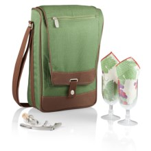 Picnic Time Barossa Wine Tote Set - 6-Piece in Pine Green - Closeouts