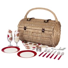 Picnic Time Barrel Picnic Basket for Two in Moka - Closeouts