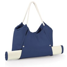 Picnic Time Cabo Beach Tote Bag with Mat in Navy - Closeouts