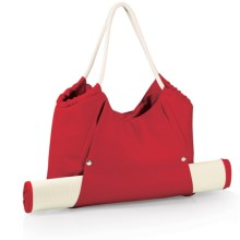 Picnic Time Cabo Beach Tote Bag with Mat in Red - Closeouts