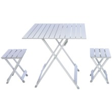 Picnic Time Folding Travel Table with Carry Sling and Seats in See Photo - Closeouts