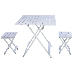 Picnic Time Folding Travel Table with Carry Sling and Seats in See Photo