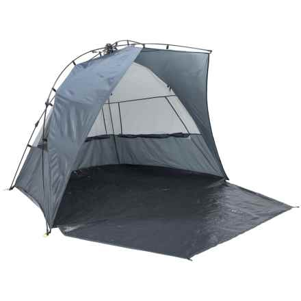 Picnic Time Haven Portable Sun/Wind Shelter in Grey - Closeouts