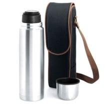 Picnic Time Kona Express Coffee Duffel Bag - Vacuum Flask in Black/Brown Trim - Closeouts