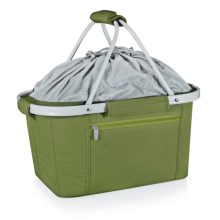 Picnic Time Metro Collapsible Tote Basket - Insulated in Olive - Closeouts
