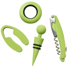 Picnic Time Metro Wine Tool Set - 4-Piece in Lime - Closeouts