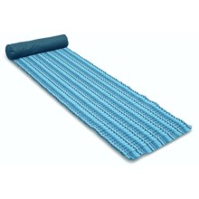 Picnic Time Soleil Beach Mat with Inflatable Pillow in Blue Stripe - Closeouts