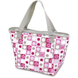 Picnic Time Topanga Tote Bag - Insulated in Pink Geo