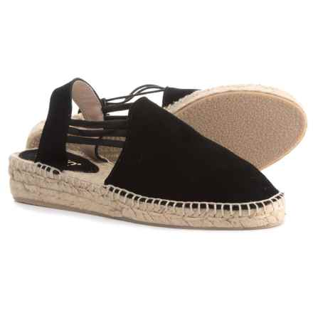 Picon Made in Spain Triple-Band Espadrilles - Suede, Slip-Ons (For Women) in Black - Closeouts