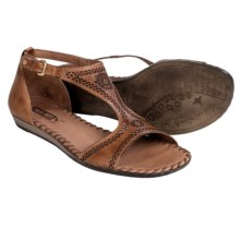 Pikolinos Alcudia Leather Sandals (For Women) in Brandy - Closeouts