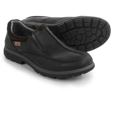 Pikolinos Badajoz Loafers - Leather, Slip-Ons (For Men) in Black - Closeouts