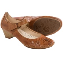 Pikolinos Bariloche Leather Pumps (For Women) in Brandy - Closeouts