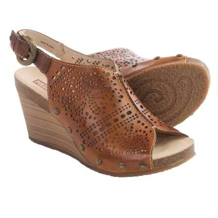 Pikolinos Benissa Wedge Sandals - Leather (For Women) in Brandy - Closeouts