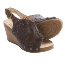 Pikolinos Benissa Wedge Sandals - Leather (For Women) in Olmo - Closeouts