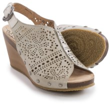 Pikolinos Benissa Wedge Sandals - Leather (For Women) in Smoke - Closeouts