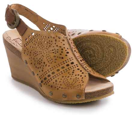 Pikolinos Benissa Wedge Sandals - Leather (For Women) in Terrano - Closeouts